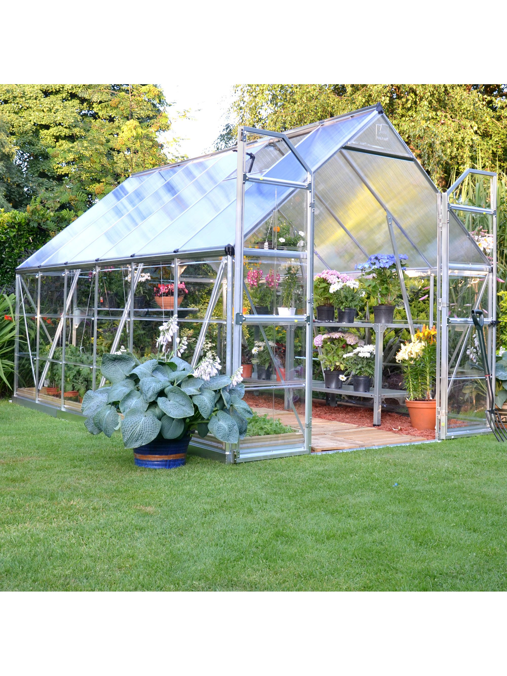 nature greenhouse 6x8 polycarbonate greenhouse galvanized steel