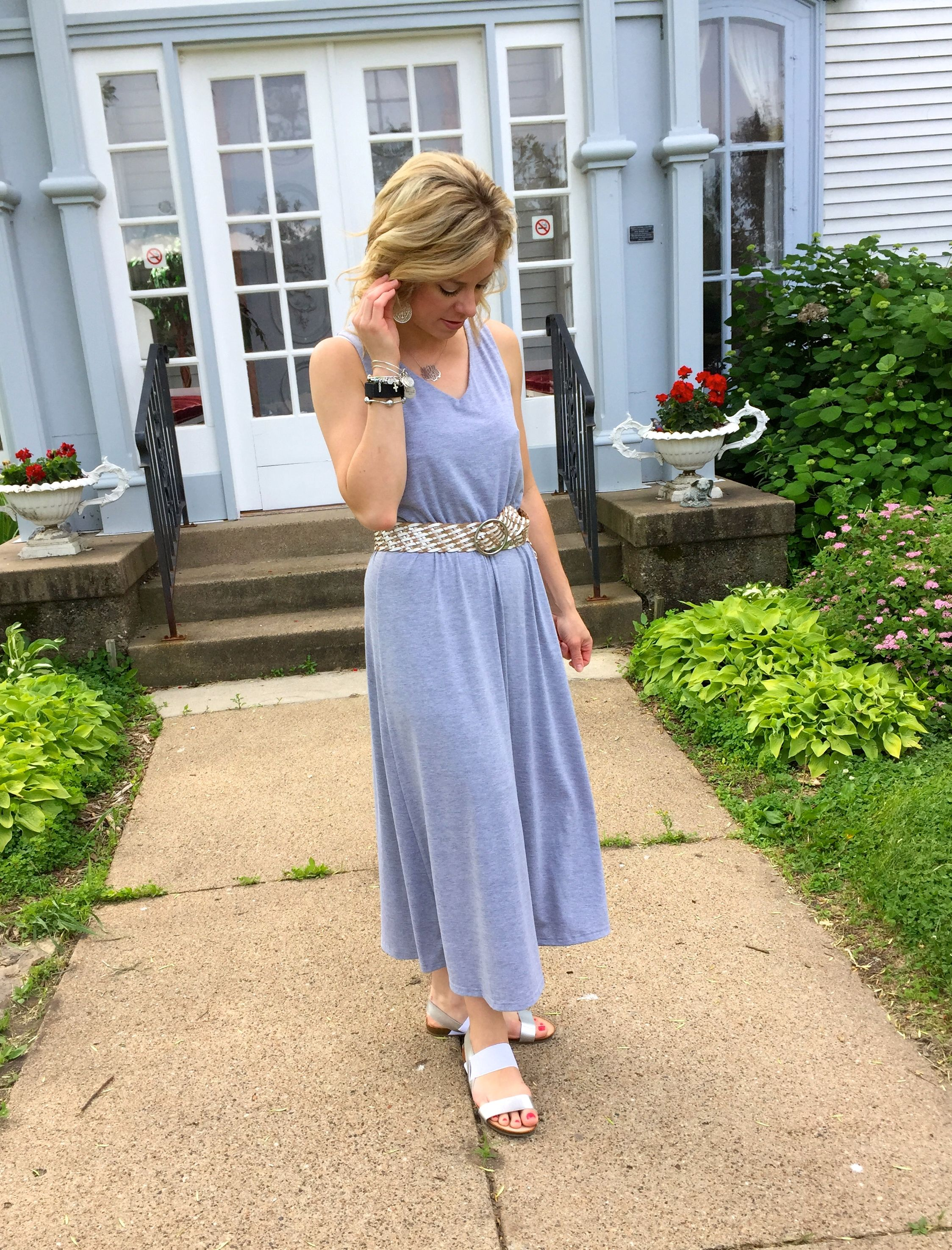 Summer time Grey Midi Dress.