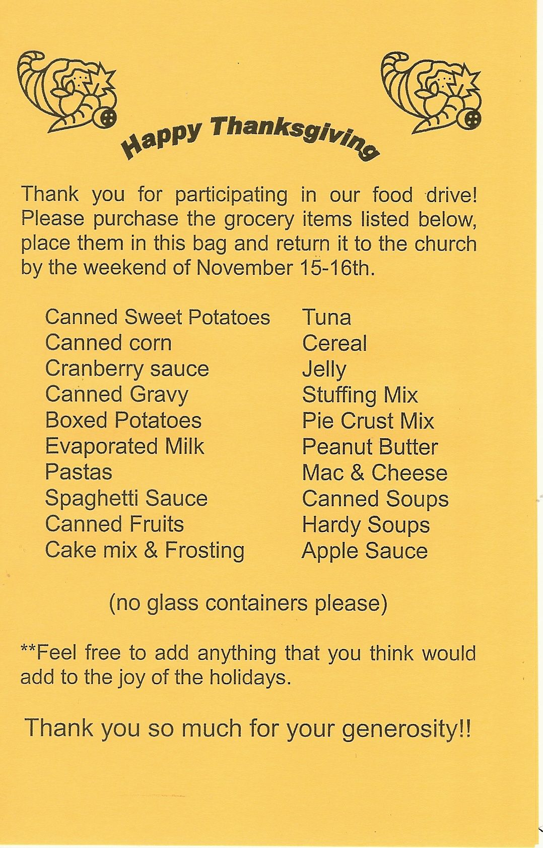 Thanksgiving Food Drive Food drive, Thanksgiving recipes