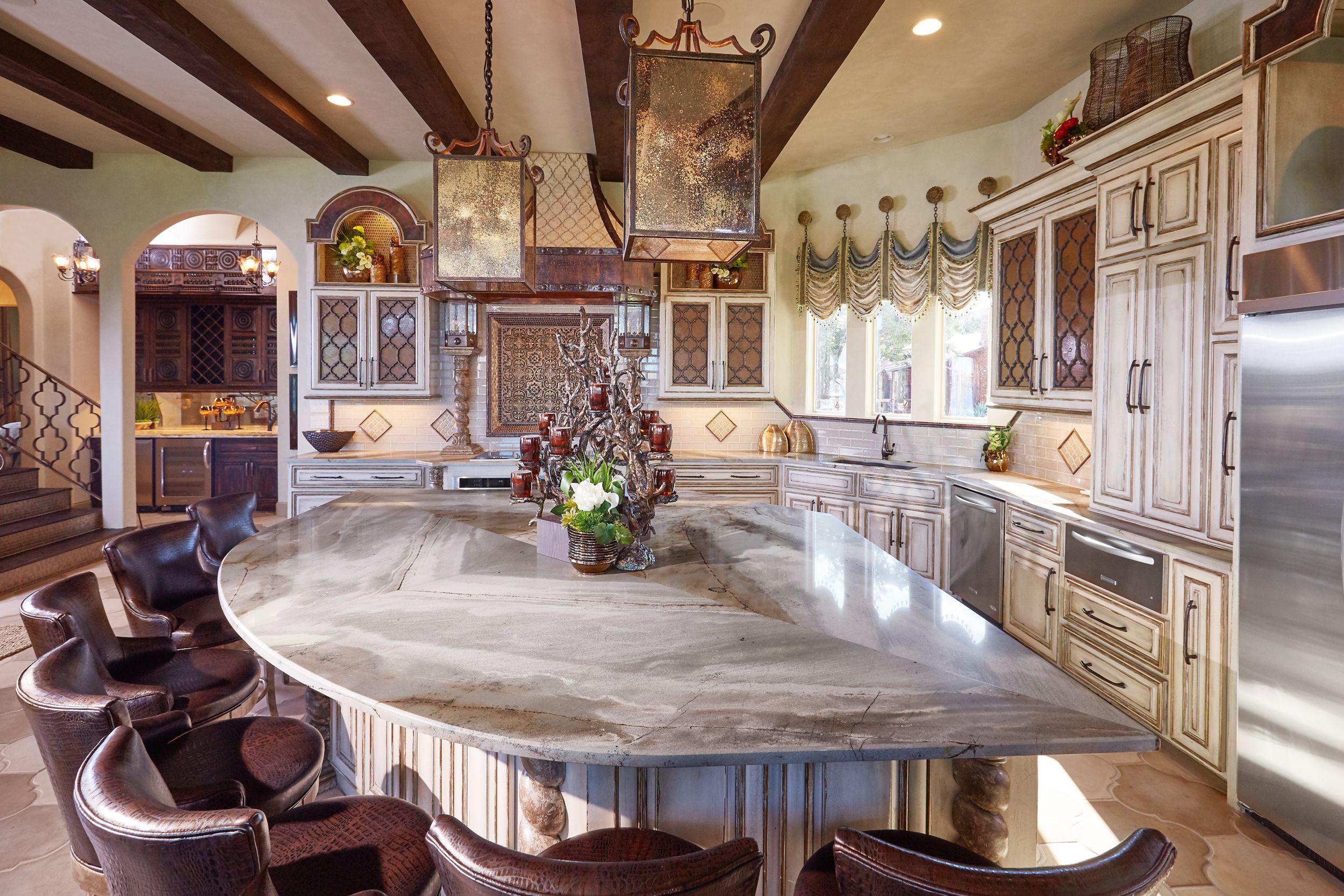 Custom Cabinetry Italian Villa Interior Design Grandeur
