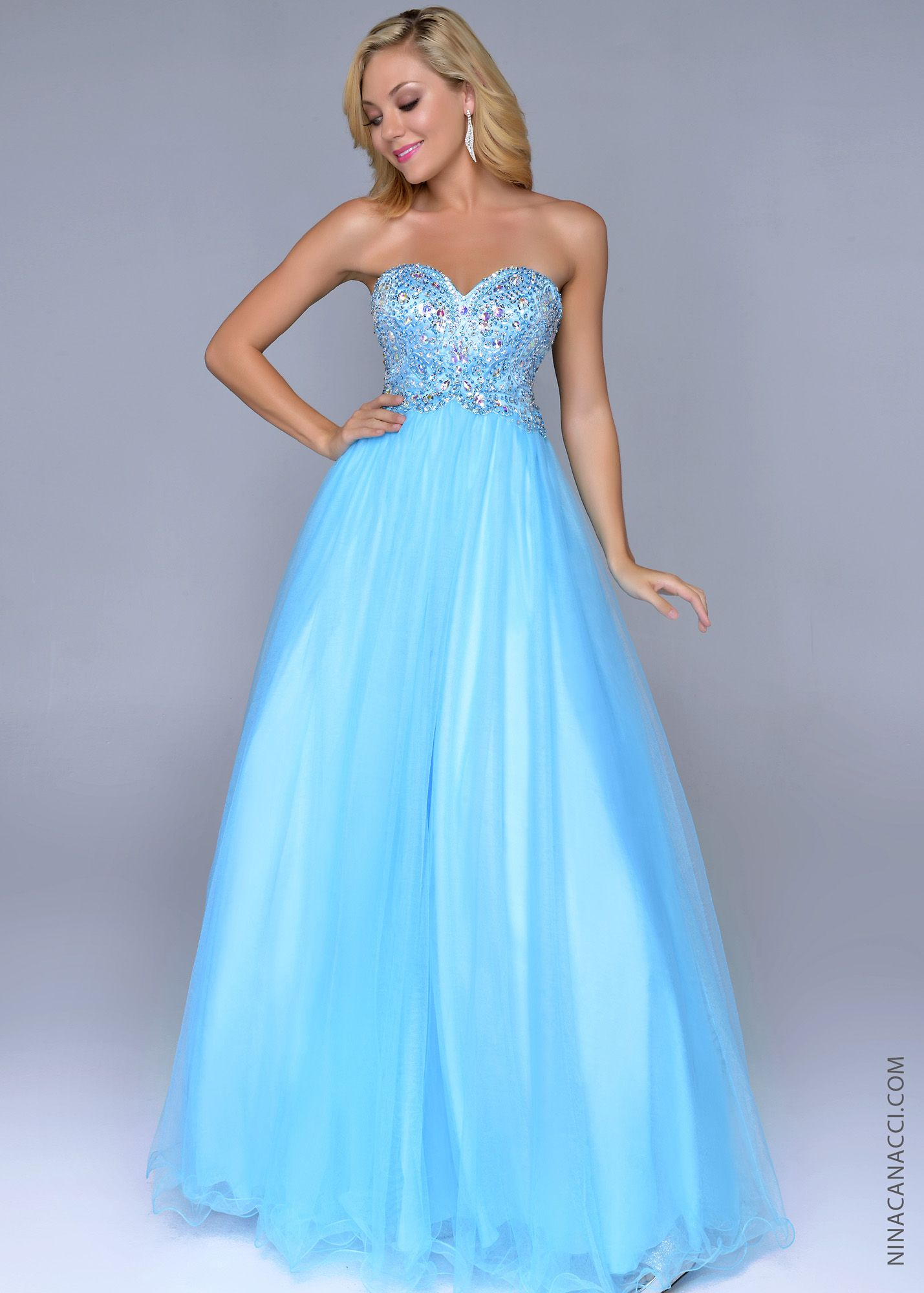 Nina Canacci 8003 - Turquoise Beaded Ball Gowns Prom Dresses Online ...