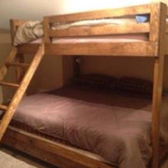 Bunk Beds Queen Over King Stained Ms Kids
