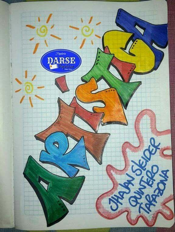 Pin de dessy en caratulas para cuadernos art lettering for Caratulas de artes plasticas para secundaria
