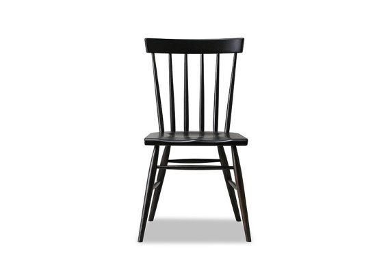 Windsor Chair   Solid White Oak With Charcoal / Black Stain   Available In  Other Woods