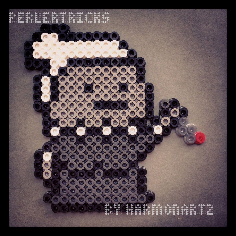 Norman Bates aimant Psycho Perler Bead Magnet style par HarmonArt2