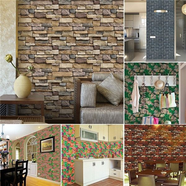 waterproof brief wall sticker wall bricks pattern self on wall stickers id=69649