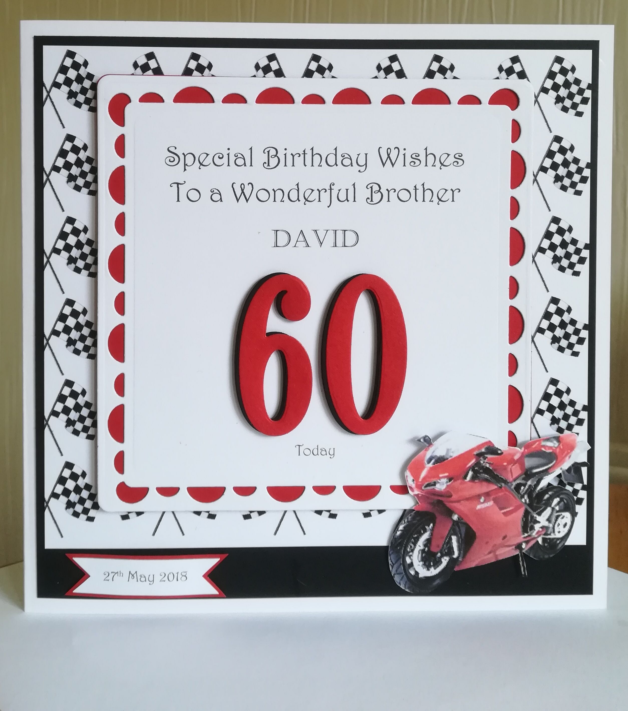 60th male birthday card motorbike with images birthday