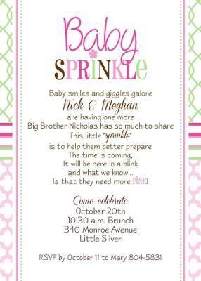 Sprinkle baby shower invitation wording baby sprinkle pinterest sprinkle baby shower invitation wording filmwisefo Choice Image