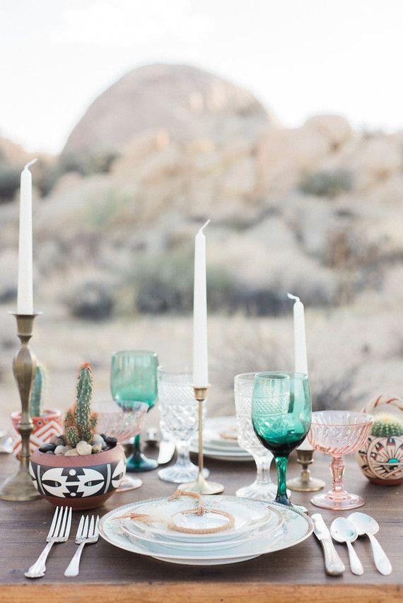 Photo of Bohemian desert wedding inspiration