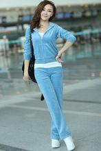 Mujeres llevan cardigan la mujer de manga de otoño y deportes de invierno pantalones mujer pantalones de ocio deporte capucha juego de tres piezas camiseta para mujer(China (Mainland))