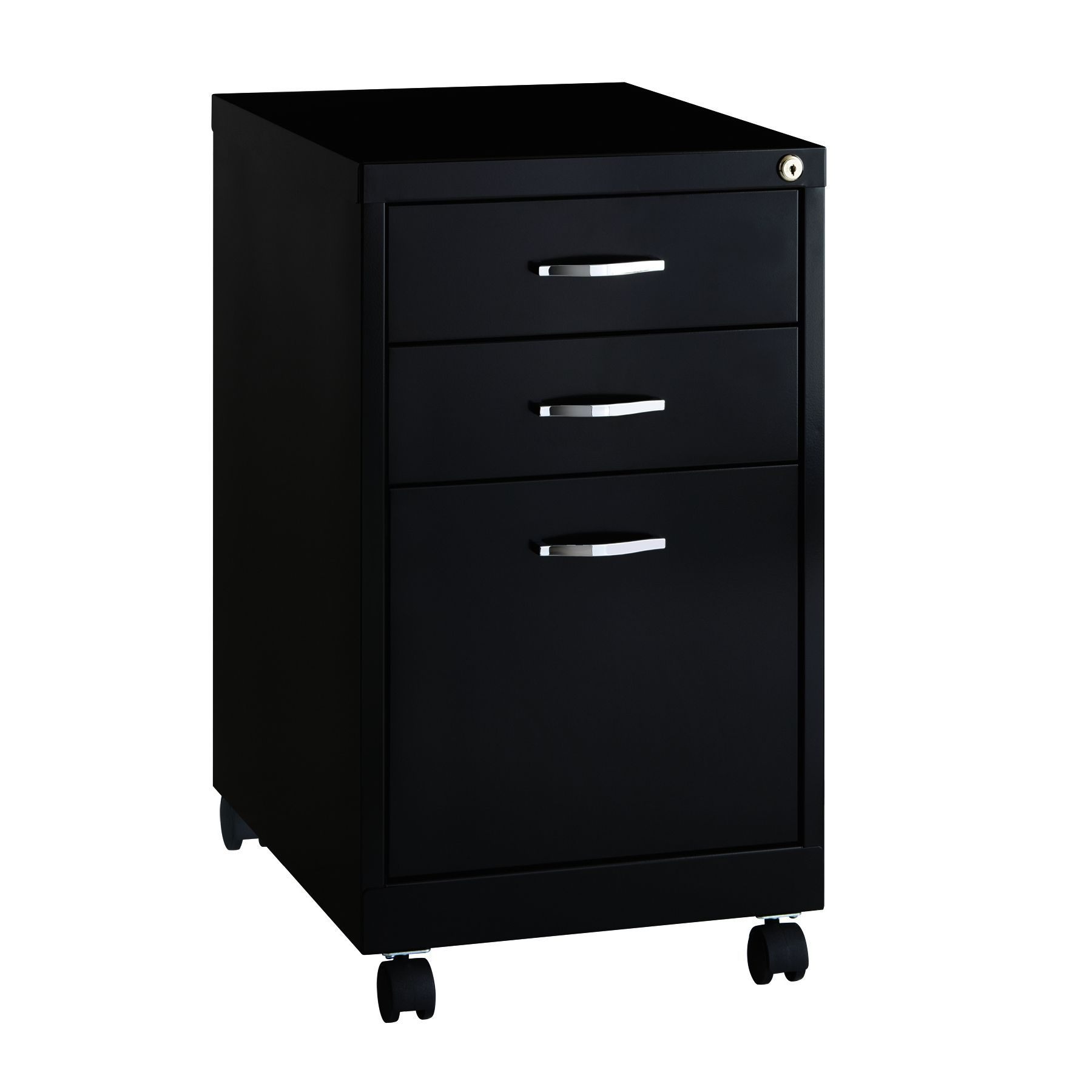 BBF Soho Pedestal 19 inch Deep 3 drawer fice File Cabinet Black