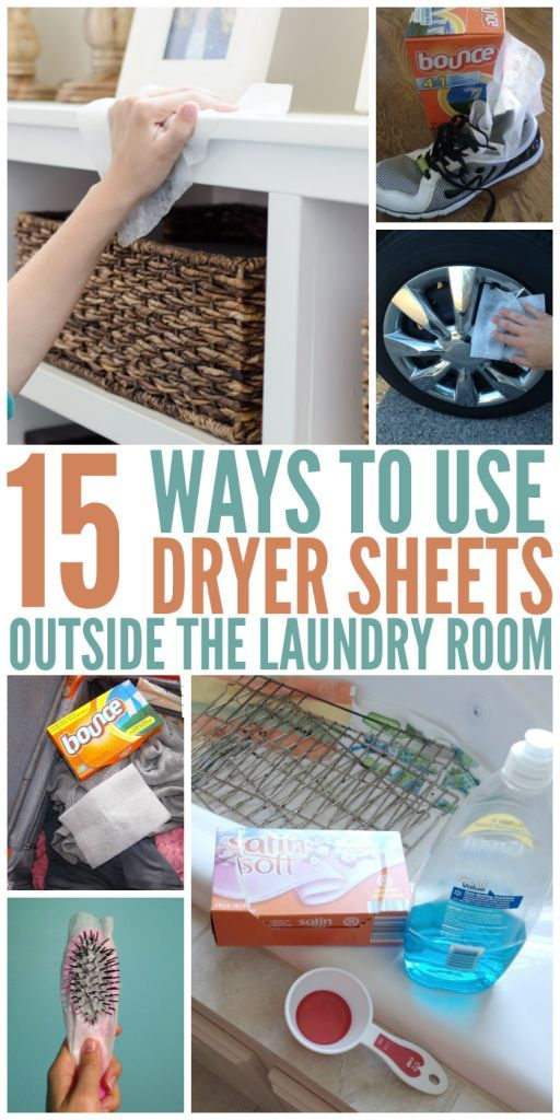 Ways to Use Dryer Sheets Outside the Laundry Room #householdhacks