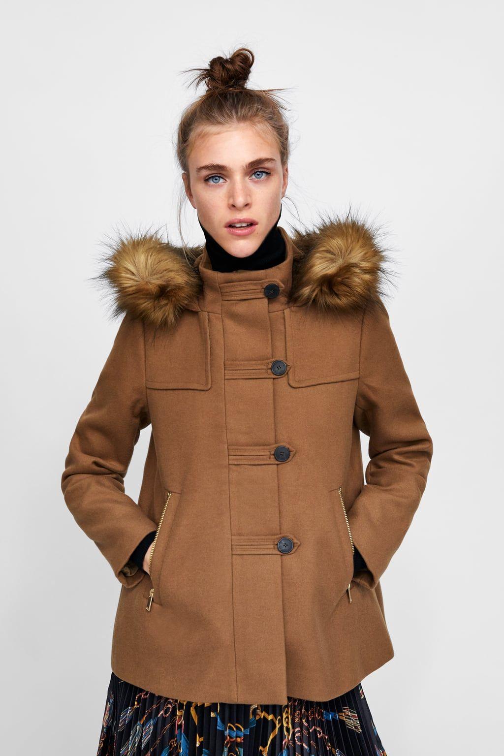 08e615e7 Image 4 of HOODED THREE-QUARTER LENGTH COAT from Zara | fw18 ...