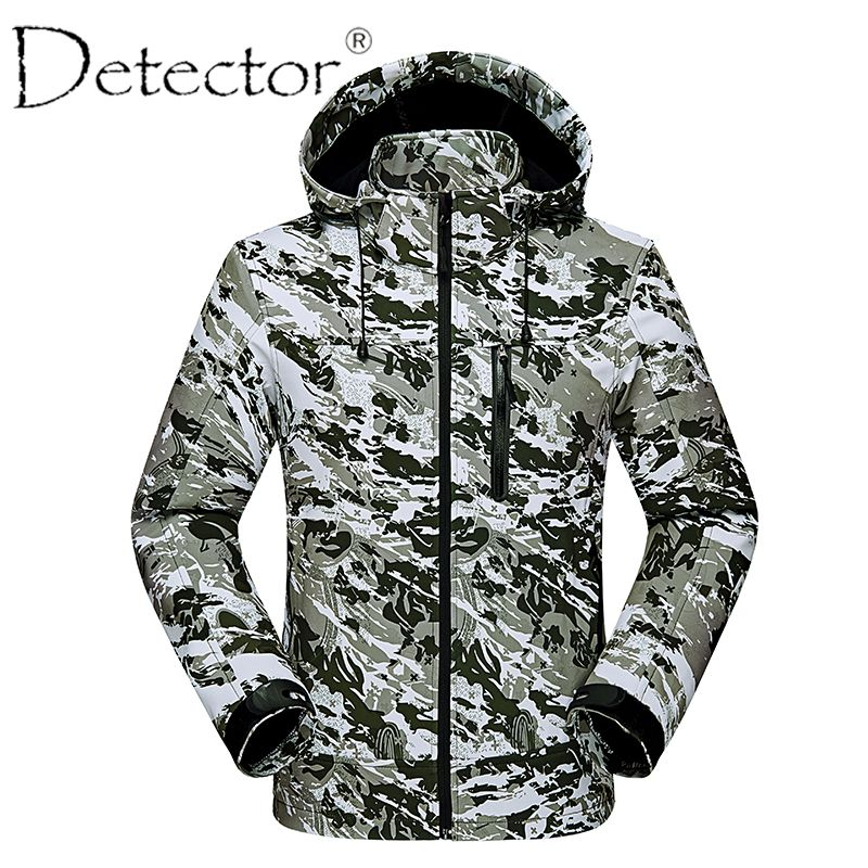134dc2fb00 Men Windproof Waterproof Breathable Thermal Softshell Jacket Outdoor  Hunting Fishing Camping Hiking Jacket