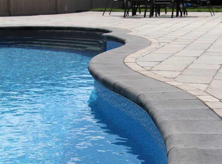 Grey Coping Pools Barollo Round Edge Coping Pool Pavers Pool