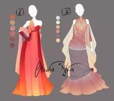 :: Adoptable Outfits 1: AUCTION CLOSED :: by VioletKy