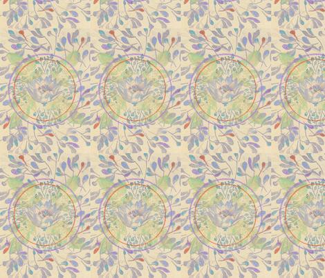 Lotus mandala fabric by studio_lolo on Spoonflower - custom fabric