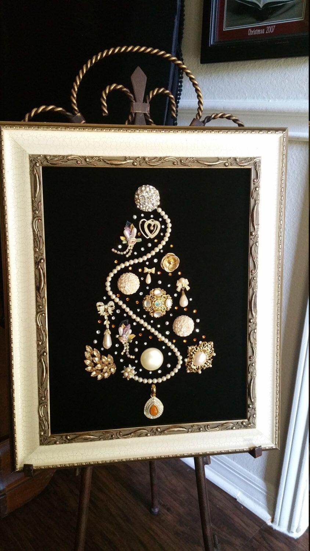 Heirloom Tree By Reyne By Heirloomtreebyreyne On Etsy Https Www Etsy Com Listing 482155698 Jeweled Christmas Trees Jewelry Christmas Tree Old Jewelry Crafts