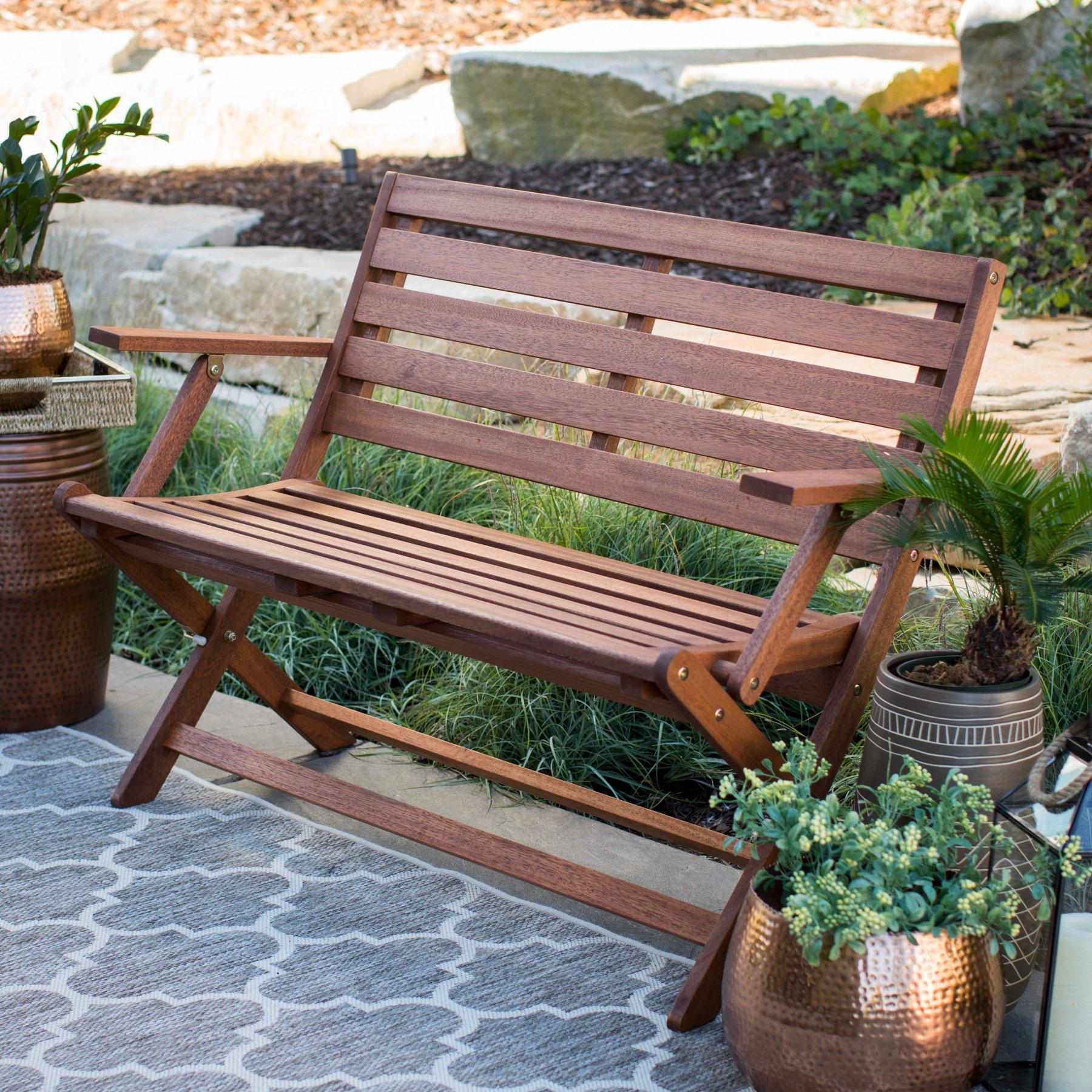 Outdoor Belham Living Redding 4 Ft Folding Bench  Vfs Gb007H