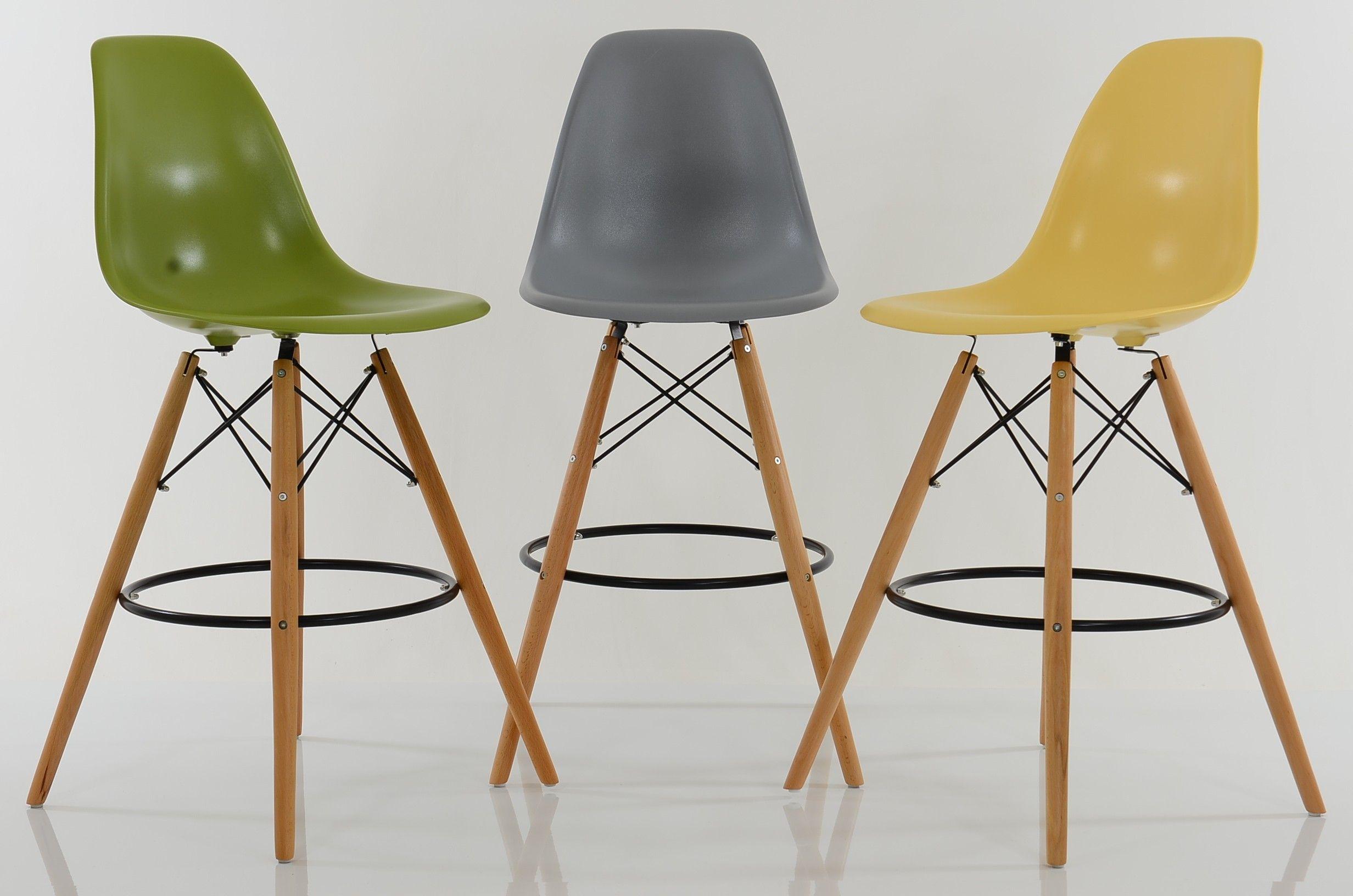 Charles Eames Yellow Dsw Bar Stool Bar Stools Designer Bar Stools