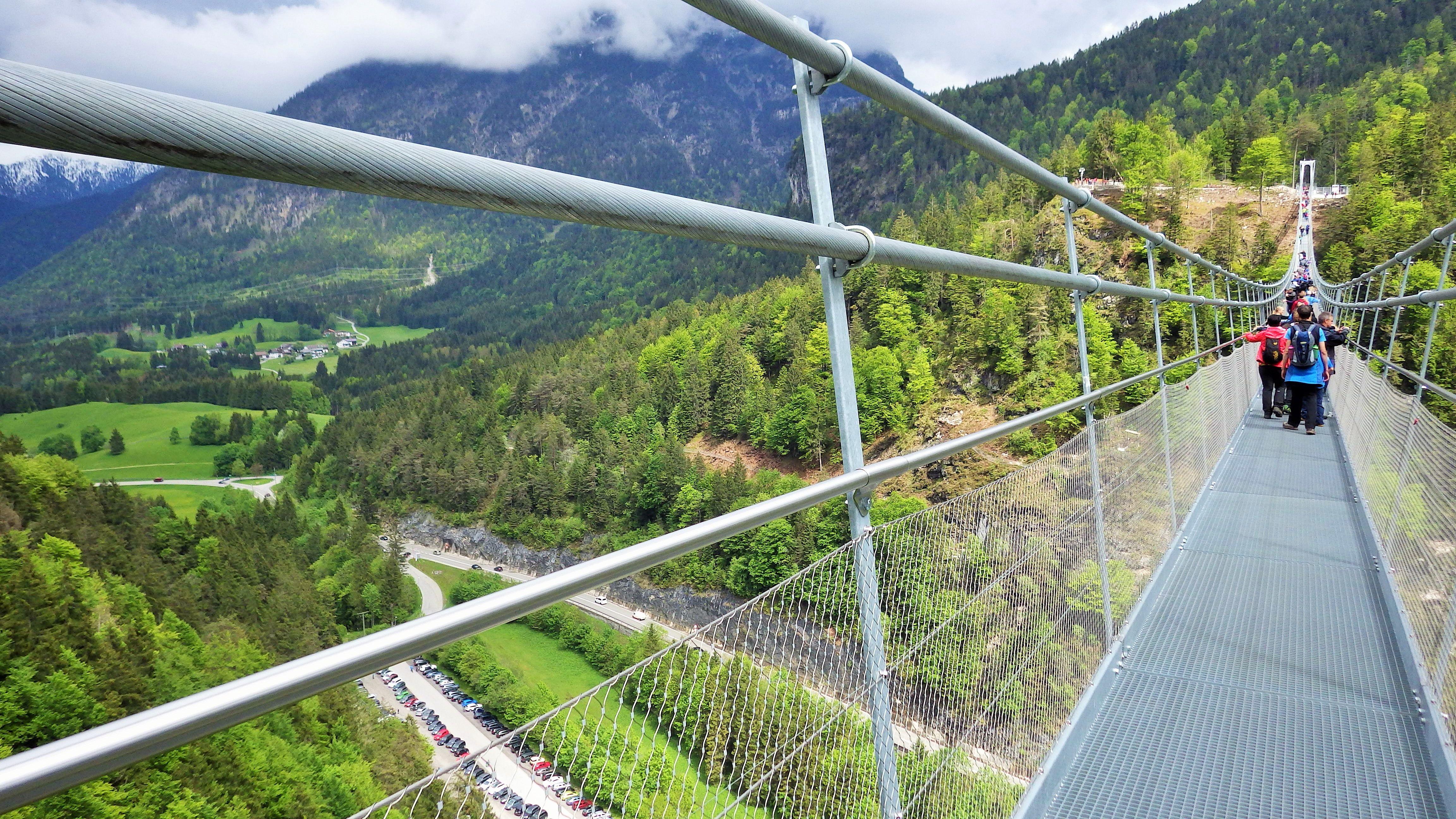 Highline 20. 20 Longest pedestrian suspension bridge in the ...