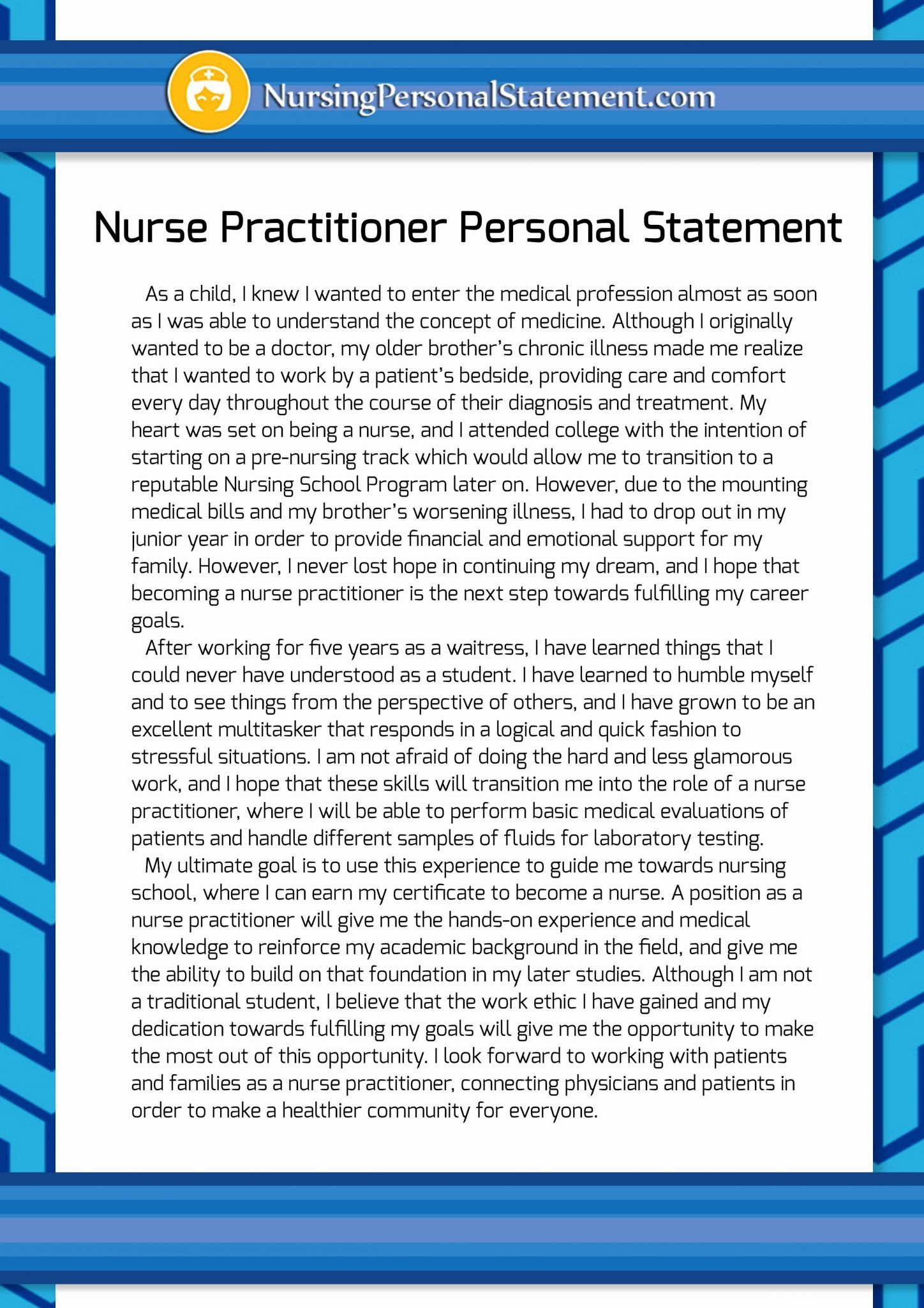 Writing personal essay for college admission nursing