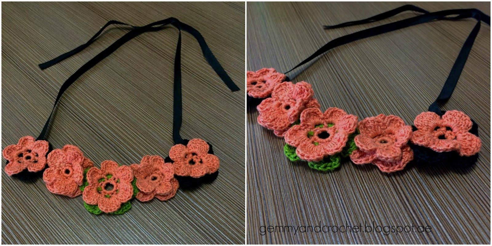 ALL ABOUT CROCHET: Flower Crochet Necklace..free pattern ...