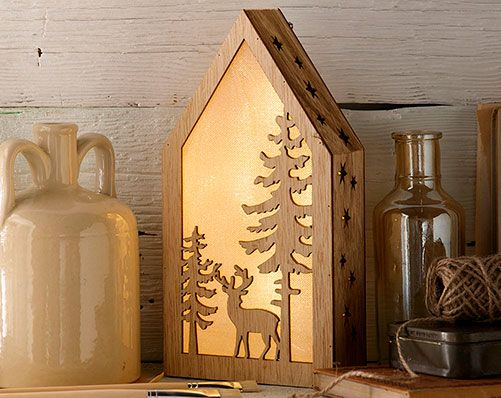 Led Stag And Tree Light Box