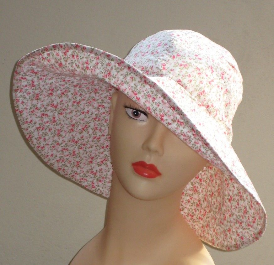 Womans hat wide brimmed sun hat size 22.5 inch sewing pattern ...