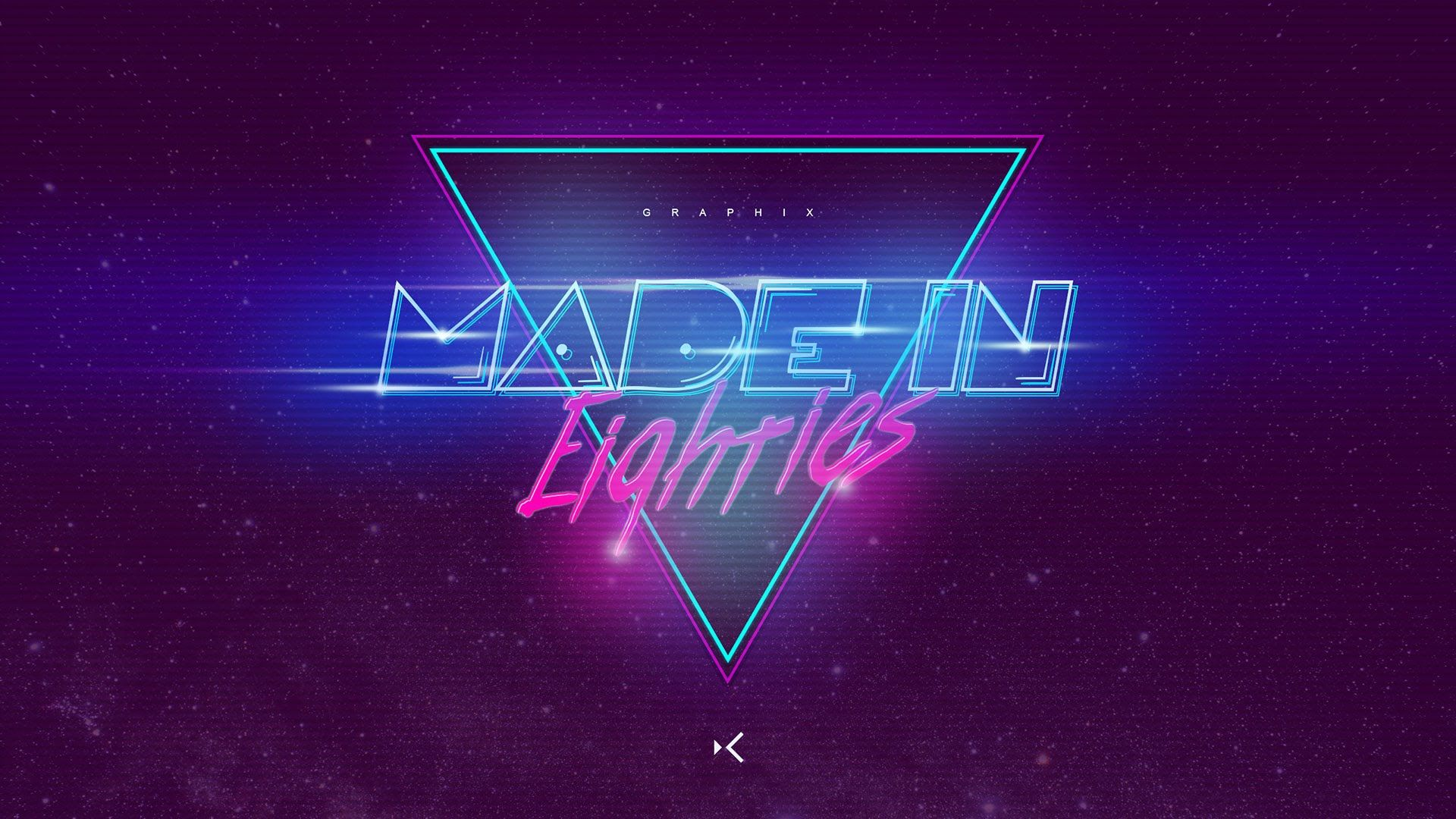 Made in 80s Wallpaper Art Speed Graphic Design Concept