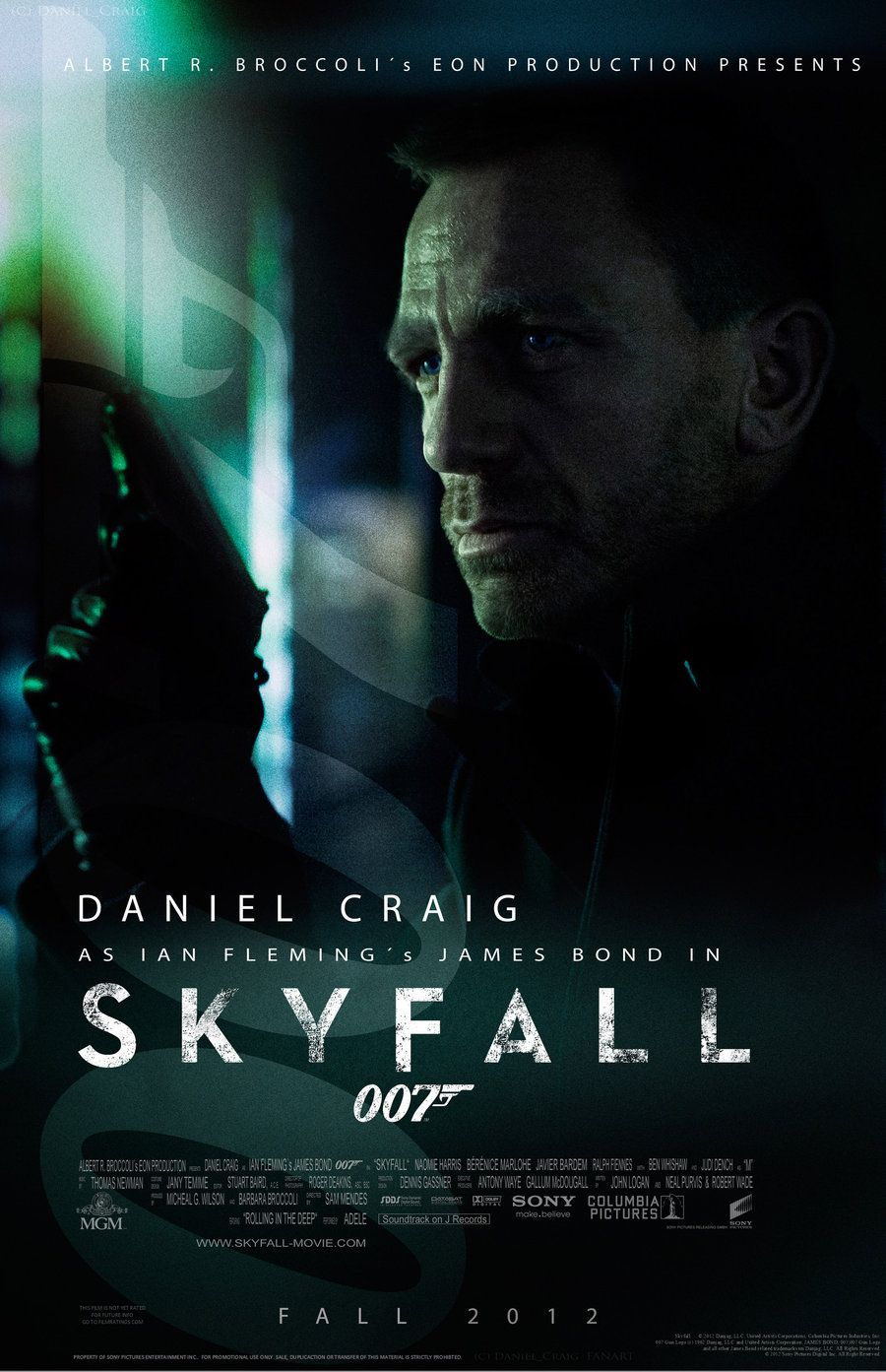 Rendered Bits Skyfall iPhone Wallpaper James bond movie