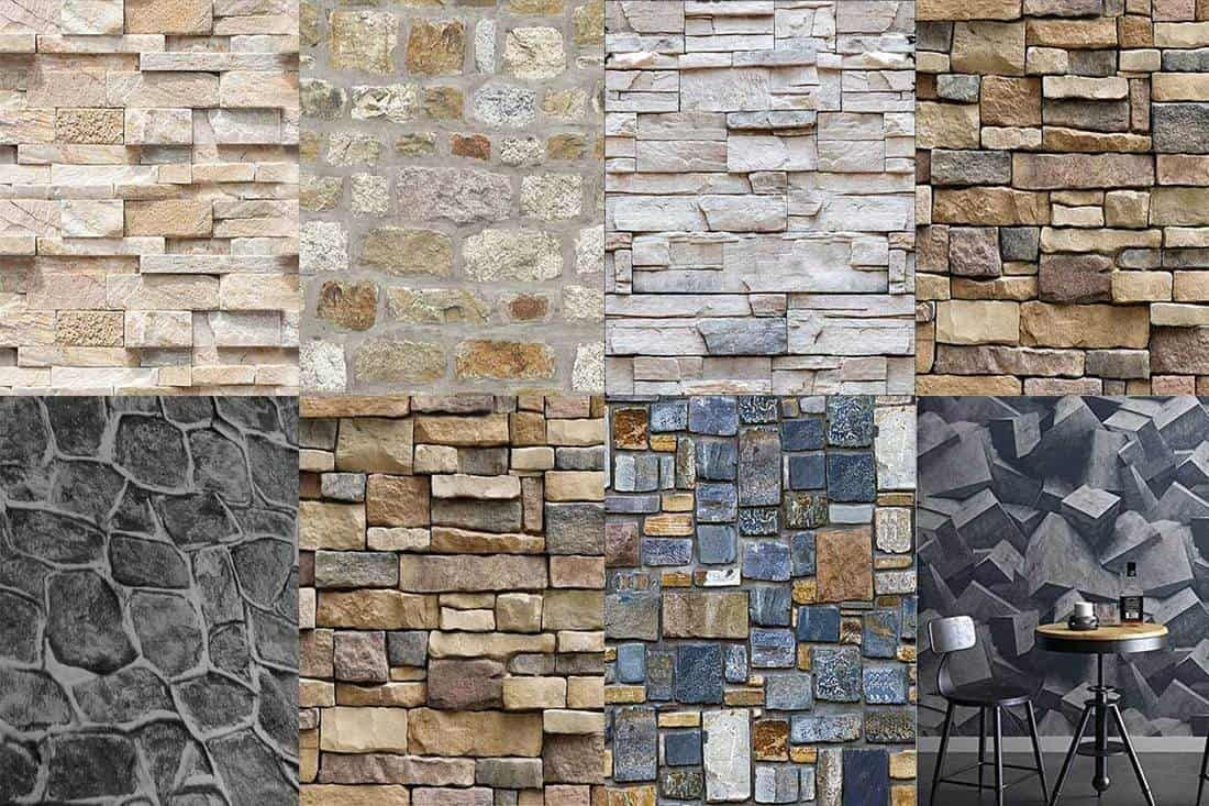 Faux Stone Wallpapers With 3d Stone Effect Patterns Stone Wallpaper Faux Stone Wallpaper Rustic Wallpaper