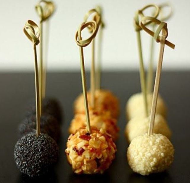 Piruletas de philadelphia appetizers recet - Comida para navidad facil ...