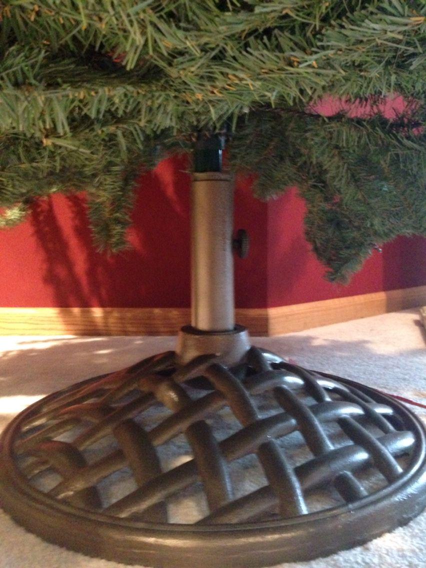 my christmas tree stand broke wahla patio umbrella stand to the rescue - Umbrella Christmas Tree