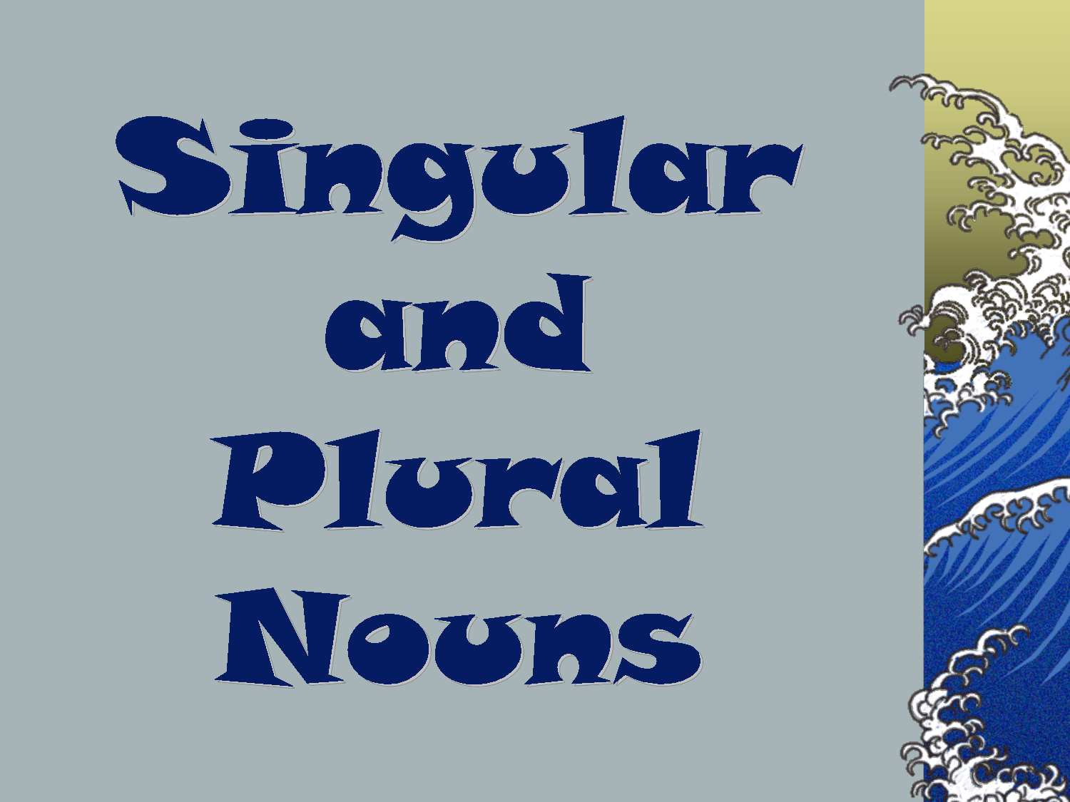 Singular and Plural Nouns and Verbs Matching Center | Places to ...