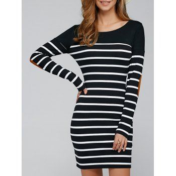 SHARE & Get it FREE | Elbow Patch Striped Sheath DressFor Fashion Lovers only:80,000+ Items·FREE SHIPPING Join Dresslily: Get YOUR $50 NOW!