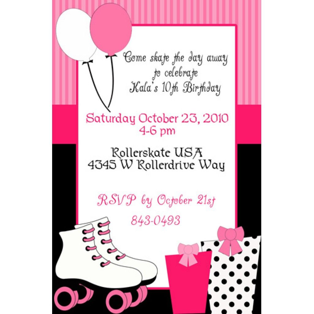 graphic about Free Printable Roller Skate Template known as Roller Skating Bash Invitation Template Totally free Celebration in just