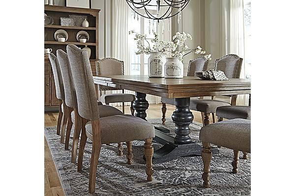 ashley dining room chairs plastic beach chair furniture tanshire home