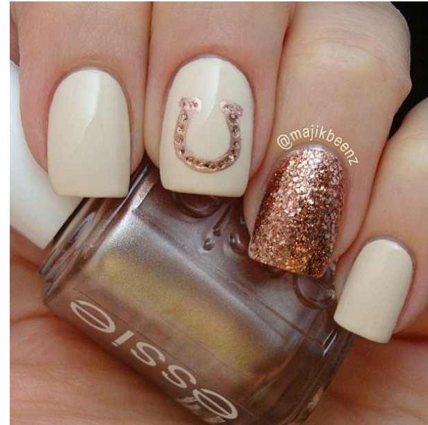 Horseshoe Nail Design Country Nails Country Girl Nails Girls Nails