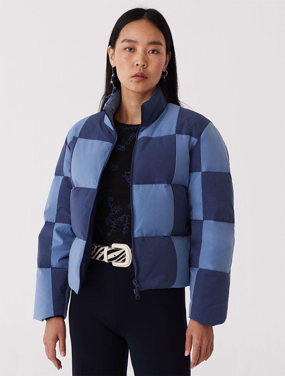 Checkered Patch Puffer Jacket By Paloma Wool Fashion Puffer Jackets Puffer [ 1200 x 912 Pixel ]