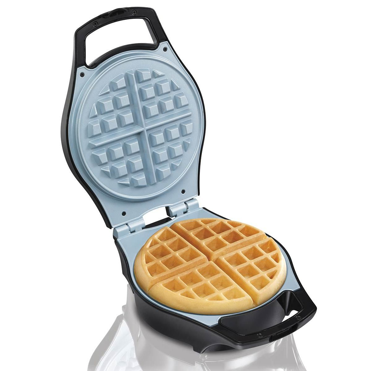 BELGIAN WAFFLE MAKER Rotating Round Flippable Ceramic Copper