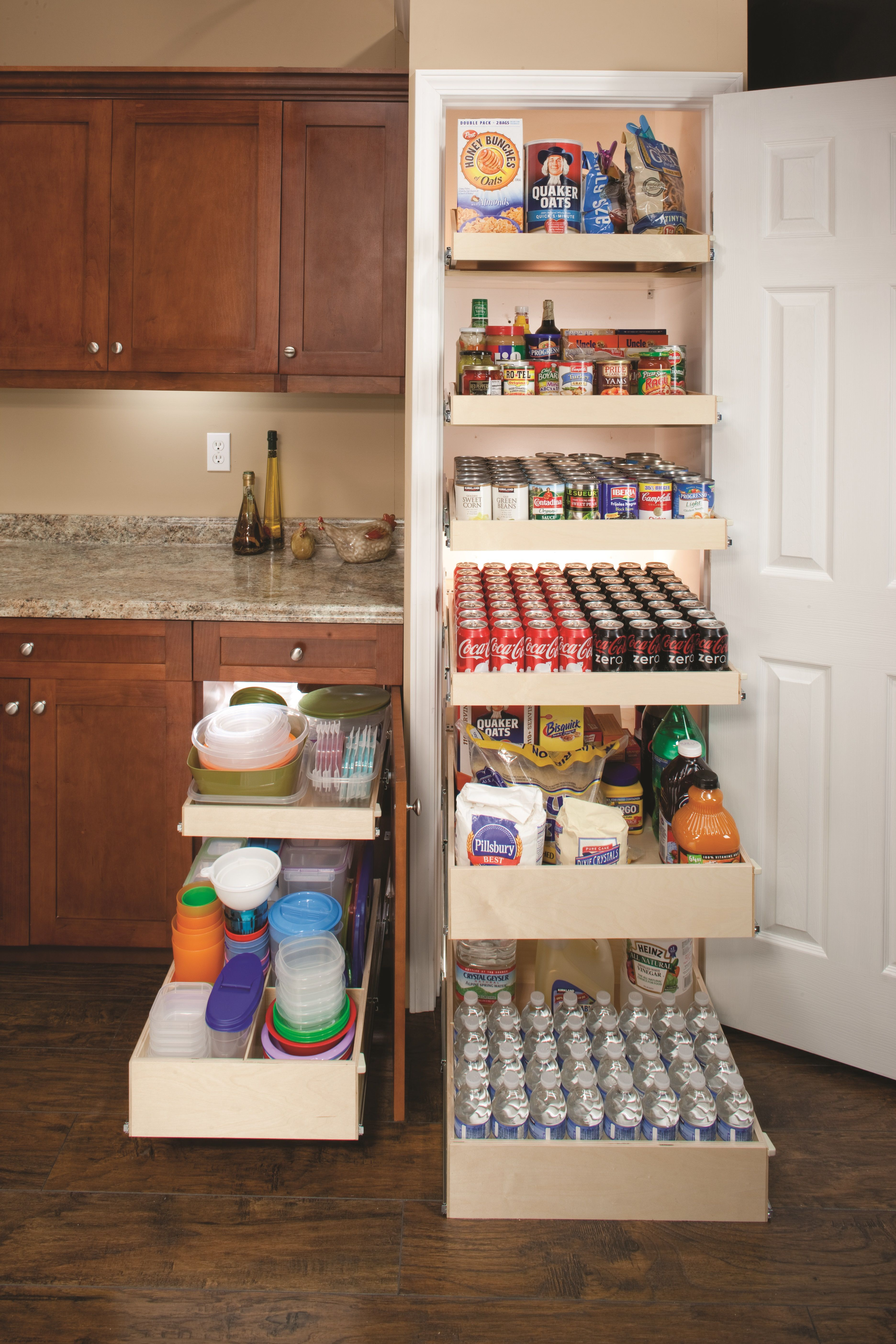 Pantry Shelves | ShelfGenie of New Hampshire | Pull out ...