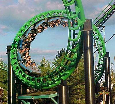 Darien Lake S Green Tracked Viper Theme Parks Rides Darien Lake Thrill Ride