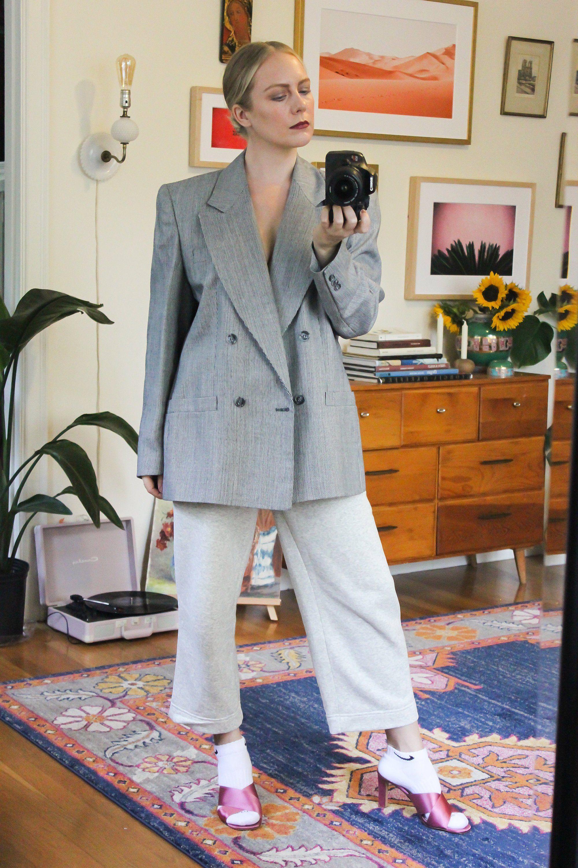 Grey Blazer  Oversize Blazer  Vintage Blazer  Vintage Grey Blazer  Oversized Blazer  Power Suit Gray Blazer Oversize Blazer Mens Blazer