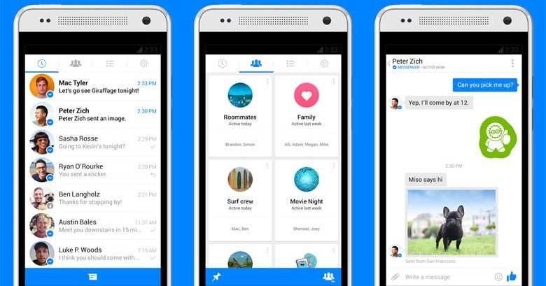 The Facebook Messenger app for Android provides far more