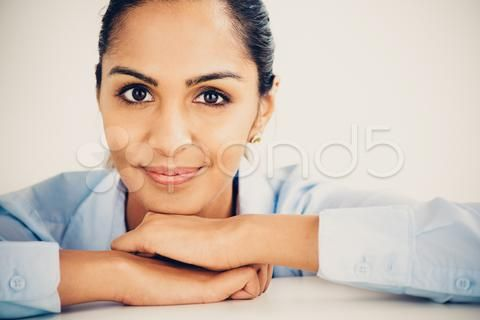 beautiful young indian business woman portrait happy smiling - Stock Footage | by bevangoldswain
