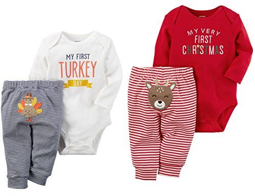 89fb3b540 Carters Baby Bundle My First Christmas and Thanksgiving Sets Unisex 3  Months *** Visit the image link more details. (This is an affiliate link) #  ...