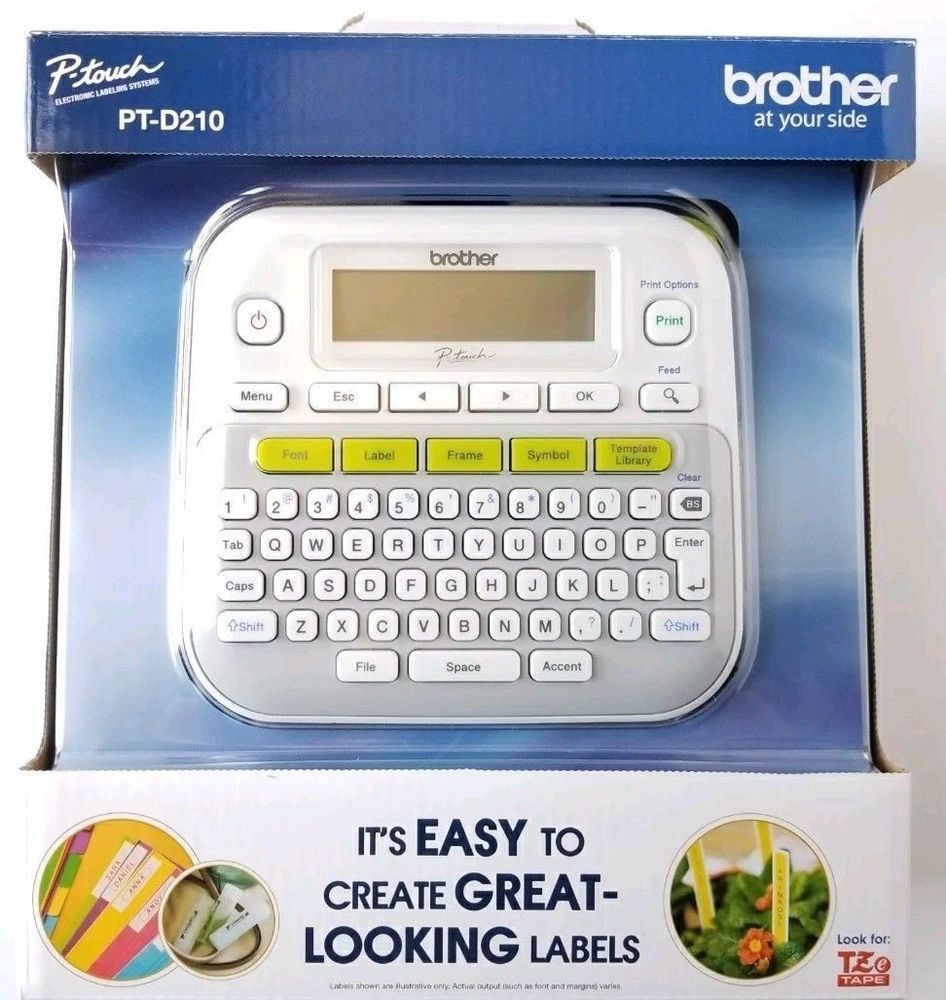 Brother Pt D210 P Touch Electronic Labeling System Label Maker