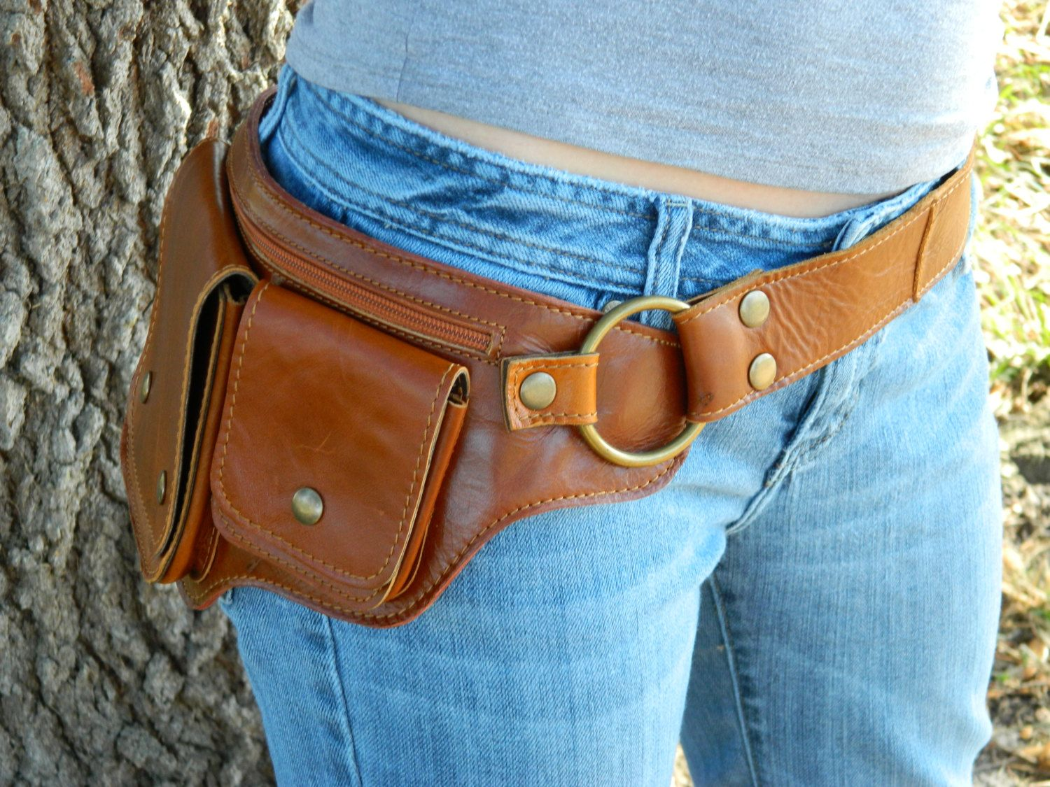 7ff8bf4af3 Don t call it a fanny pack!!! Hitchhiker Hip Bag - Leather Hip Purse.   79.00