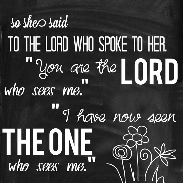 She gave this name to the LORD who spoke to her: 'You are ...
